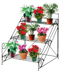 flower pot stand ideas lovely 3 tier garden plant pot display etagere stand flower patio of