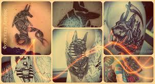 фото тату анубис примеры готовых татуировок с рисунком анубиса