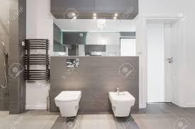 Teure Glänzenden Modernen Badezimmer In Marmor Lizenzfreie Fotos