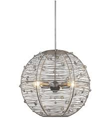 golden lighting 1993 m ps joia 4 light 21 inch peruvian silver pendant ceiling light