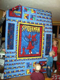 be jolly quilt kit finished quilt size 57 x 60 this cute panel ... & Super hero Spider-Man quilt--John's Daughter-- great pattern for a quilt  panel Adamdwight.com