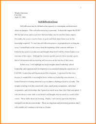 example of reflective essay on self co example