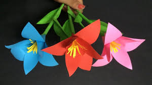 Paper Make Flower How To Make Lily Flower With Paper Making Paper Flowers