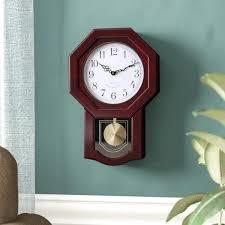 schoolhouse wall clock seiko qxh102bc chiming schoolhouse wall clock