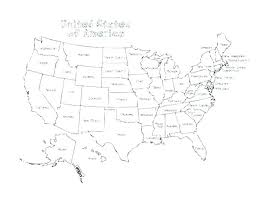Coloring Page Of The United States Free United States Map Coloring