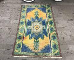turkish rug 3 3x5 7ft orange oushak rug vintage mute orange rug runner rug thin oushak rug orange ushak rug urban rug urban rug