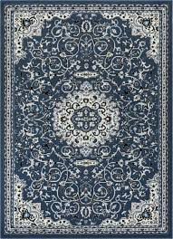 blue modern medallion area rug traditional carpet loomed safavieh