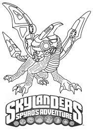 Skylanders Spyros Adventure Drobot Coloring Page Free Printable