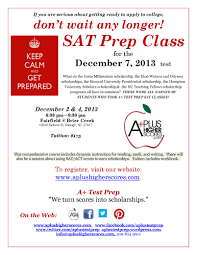 sat tutoring flyer