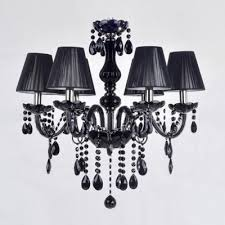 6 light gorgeous black crystal droplets chic and majestic black chandelier