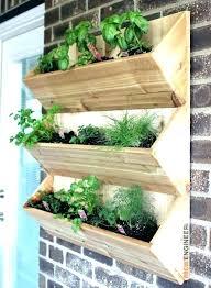 outdoor wall planter wall hanging herb garden outdoor wall mounted for herb wall planters prepare