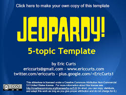 Free Jeopardy Template With Sound 12 Free Jeopardy Templates For The Classroom