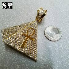 More than 100 iced out pendants to choose from at ice bling® shop. Hip Hop Rapper S Iced Out Gold Plated Egyptian Ankh Cross Pyramid Pend
