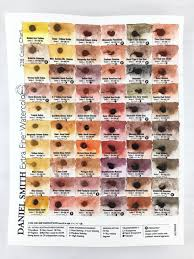 Daniel Smith Watercolor Dot Chart Daniel Smith Watercolor 238 Dot Color Chart Watercolors