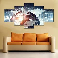 wall decor office. Modern Technology Abstract Poster Art Print Wall Canvas Painting For Office Room Decor Network