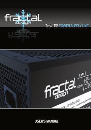 Fractal Design Tesla Fractal Design Tesla R2 1000w User Manual 15 Pages Also