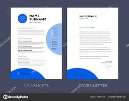Professional Resume Template Blue Design Letterhead Cover Letter