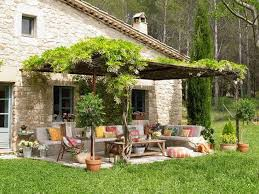 Patio ideas Outdoor Patio Summer Decorating With Flowers And Colorful Fabrics Lushome Bringing Bright Color Accents Into Outdoor Rooms Before And After