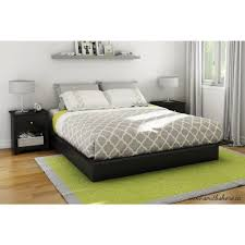 south shore step one kingsize platform bed in pure black