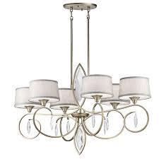 casilda oval 6 light chandelier in sterling gold sgd