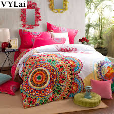 bedding vintage bright fl bedding set flower comfort duvet cover queen king size bed sheet bedclothes