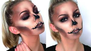 easy glam skull makeup tutorial