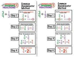 6 Ns 1 Division Of Fractions Anchor Chart 1 Common Denominator Method