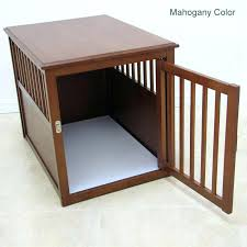 wood crate table wood dog crate table with door open wood pet crate end table