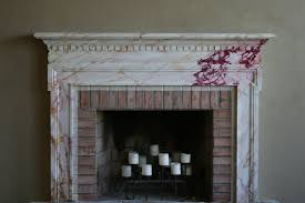 faux marble fireplace and mantle