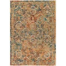 maura burnt orange 8 ft x 10 ft area rug