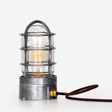industrial cage lighting. Edison Cage Table Lamp // Industrial Lighting Y