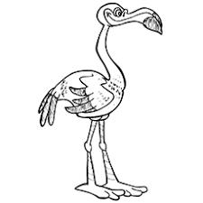 flamingo coloring pictures. Modren Pictures Flamingo Coloring Pages  Lawn For Pictures