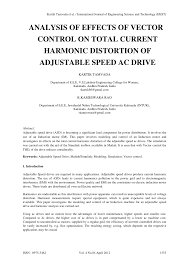 Harmonic Distortion Analysis Of Effects Of Vector Control On Total Current Harmonic