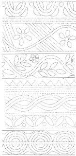 Quilting designs for skirts 2 Parfait pour les jupons piqués ça ... & Some of the designs in the middle and towards the bottom might be do-able Adamdwight.com