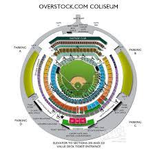 O Co Coliseum Seating Chart Baseball 34 Complete Map Of The Oakland Coliseum