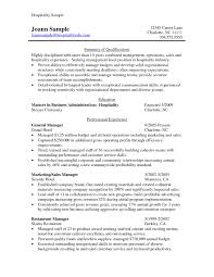 Hospitality Resume Example Regular Skills For And Best Format Hotel