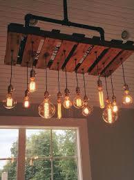 diy pallet iron pipe. Metal + Mason Jars Pipe Chandelier - 125 Awesome DIY Pallet Furniture\u2026 Diy Iron L