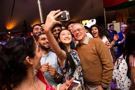 vanu bose wedding. mit president l. rafael reif posed for a selfie with partygoers at the oneworld @ multicultural festival and dance parties on april 29. vanu bose wedding e