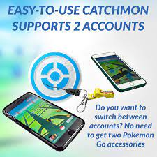 Games & Accessories Automatic Pokemon Catcher Supports Dual ID Accounts  Black MEGACOM Dual Catchmon Pokemon Go Plus Auto Catch Accessory Always On  Wireless Bluetooth for Android Phone & iPhone Handheld Games