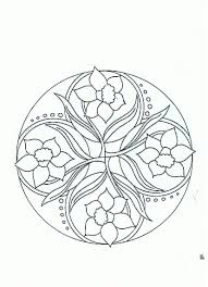 Mandala Jonquilles Colouring Pagescoloringspring