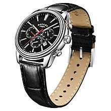 leather men s watches john lewis buy rotary gs05083 04 men s chronograph date leather strap watch black online at