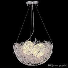 led bird s nest chandelier modern minimalist creative personality dining room chandelier children bedroom balcony bar room light glass pendant light pendant