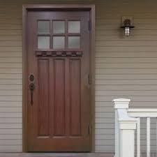 residential front doors craftsman. Craftsman 6 Lite Stained Mahogany Wood Prehung Front Door, Brown Residential Doors T
