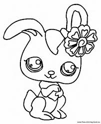 Littlest Pet Shop Coloring Pages Bunny At Getdrawingscom Free For
