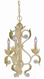 3 lights wrought iron mini chandelier