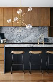 modern kitchen marble backsplash. Modren Modern Grey Marble Backsplash Natural Wood Cabinets Modern Kitchen Throughout Backsplash I