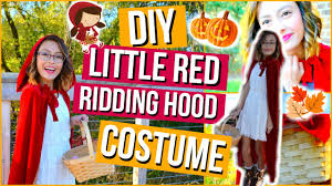 diy little red riding hood costume makeup mish sy you
