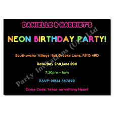 Childrens Disco Invitations Neon Party Invitation Neon Party Invitations Neon Party
