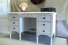 home office desk vintage. Distressed Office Desk White Vintage  On With Home E