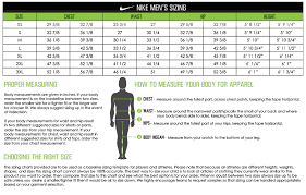 Nike Mens Medium Size Chart Nike Size Chart Mens Fresh 11 Veracious Pression Sleeve Size